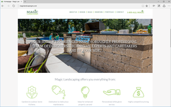 Magic Landscaping Website