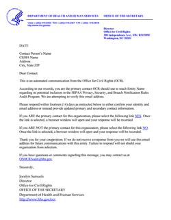 HIPAA Audit Notice